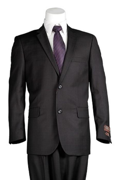 Black Windowpane 2 Button