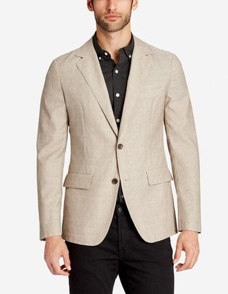 Men's Two Buttons Cheap Priced Designer Fashion Dress Casual Blazer On Sale Lightweight Wool Slim Fit Stone Blazer