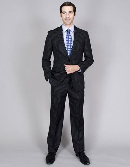 Mens Two Buttons Stripe Single Breasted Authentic Giorgio Fiorelli Brand suits
