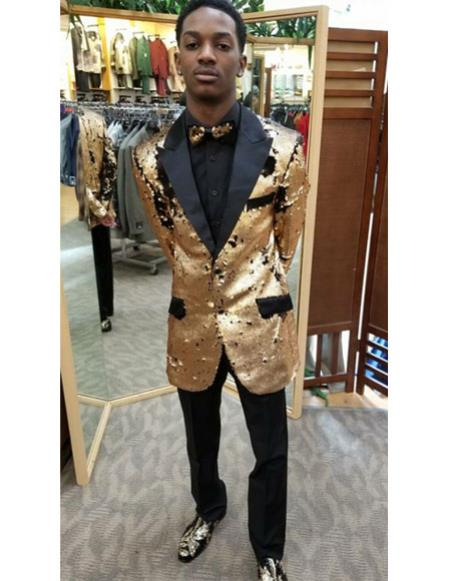 Tan Tuxedo - Khaki Tuxedo Mens Two Buttons Peak Black Lapel Khaki ~ Tan classy tuxedo suit