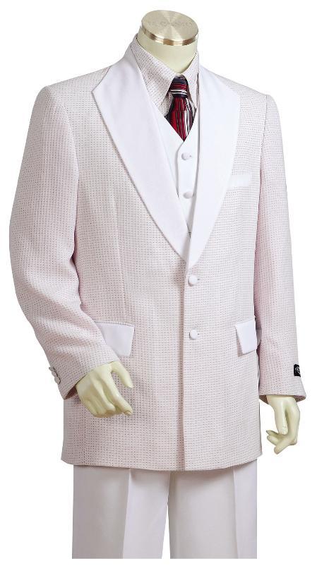 Mens Fashionable 3 Piece 2 Button Zoot Suit