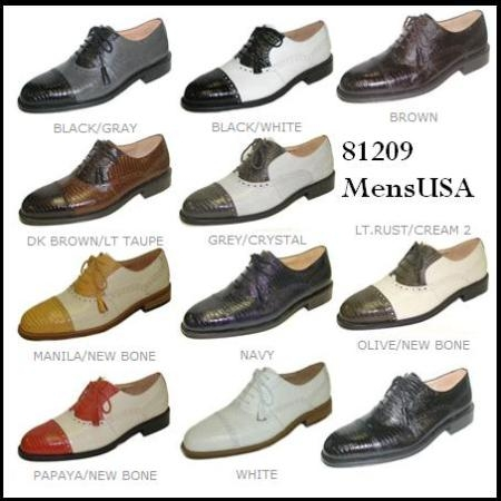 SKU# RBR253 Two Tone 15789 Matching Italian Shoes Sold With Zoot Suits Only AS a Package $99