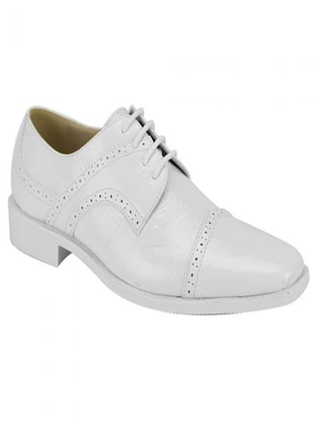 Mens Fashion Two Toned White Dress Oxford Shoes Perfect for Men