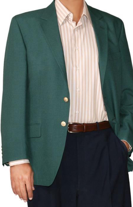 Button Blazer Wool Blend