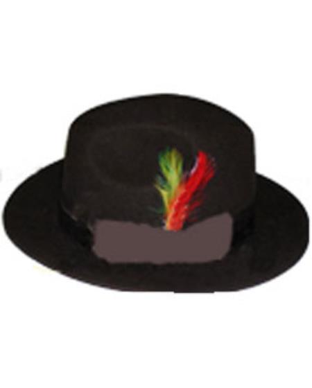 Men's Untouchable Brown Fedora Wool Dress Hat