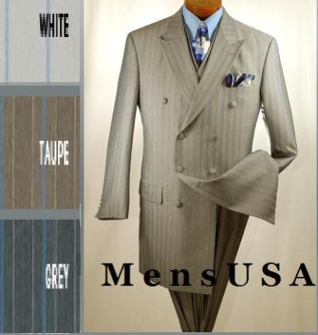 SKU#HDB36V Vested 8 Button, Double Breasted 3 Piece suit with vest ...