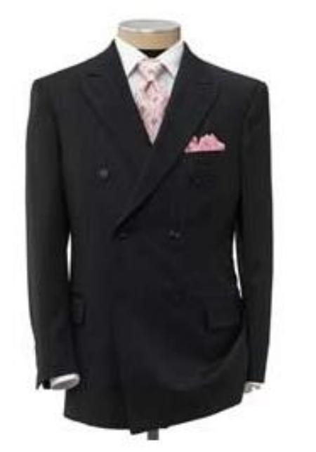 SKU# OLA325 Waffle Weave Sheen Black 6 Button Peak  Mens Suits The Nicest 3 Colors $295
