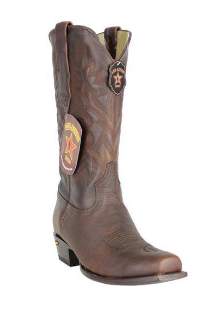 Mens Genuine Premium Leather Handmade Los Altos 7 Toe Walnut Cowboy Dress Cowboy Boot Cheap Priced For Sale Online