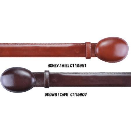 Style Cowhide Belt Honey