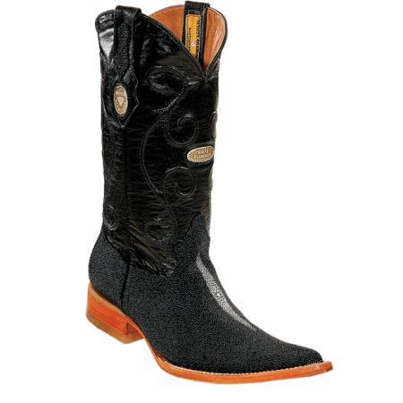 Buy PN_M51 Wh-Dimond Western Cowboy Boot Mantarraya Perla Sencilla Horma Negro