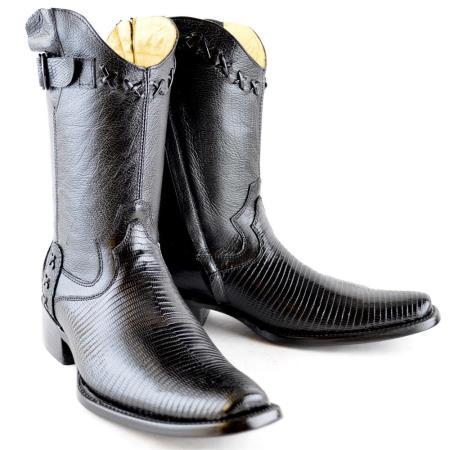 Buy PN96 Wh-Dimond Western Cowboy Boot Bota Europea Piel Lizard Negro