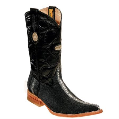 Buy FQ69 Wh-Dimond Western Cowboy Boot Bota Mantarraya Perla Completa Negro