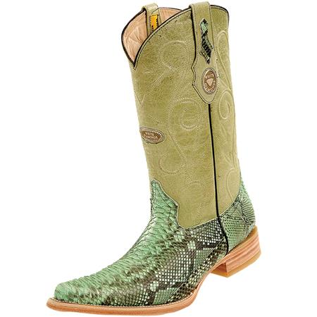 Buy PN-K51 Wh-Dimond Western Cowboy Boot Bota Piton Horma Chihuahua Pistachio
