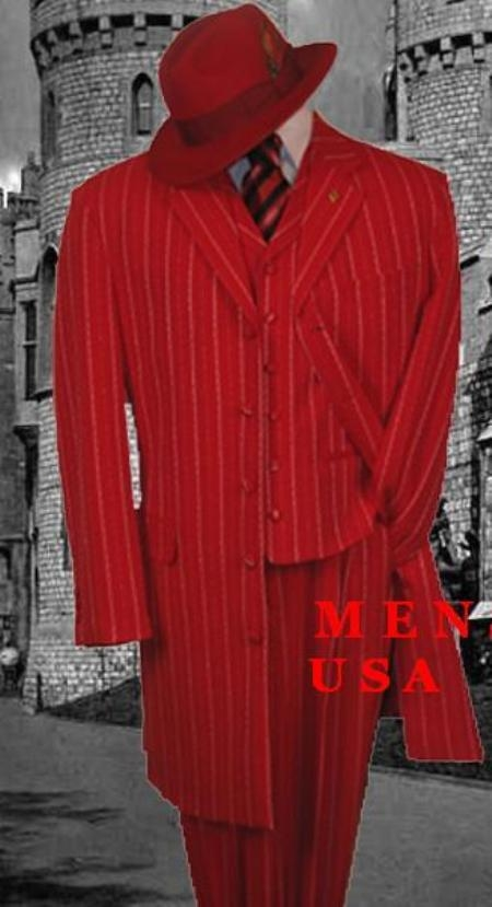 Red & White Fashion Style Long Dress Suit 3 Pieaces Vested $299