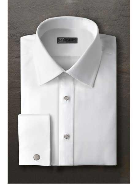 White Laydown Tuxedo Shirt
