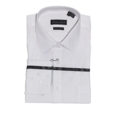 Modern-fit White Mens Dress Shirt