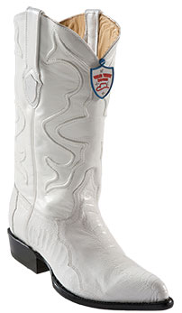 Wild West White Ostrich Leg Cowboy boots - Botas De Avestruz