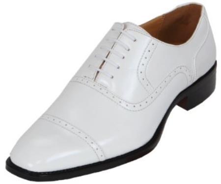 SKU#KA8968 Mens White Oxford Dress Shoe