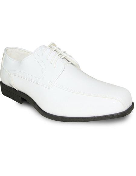 Mens Oxford Tuxedo White Patent Formal for Prom & Wedding Lace Up Dress Oxford Mens Shoes Perfect for Prom and Wedding Perfect for Men