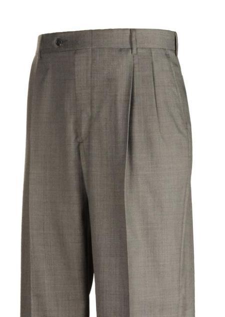 American USA Made Clothing Sharkskin Pleated Dress Pants