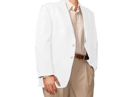 Two Button Blazer white