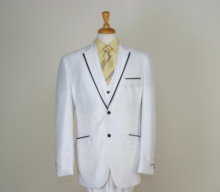 Men's Designed All White Suit For Men Two Button Tuxedos