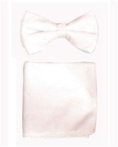 Bowtie with Hanky White