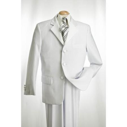 SKU#DH234 White Tuxedo with Tone on Tone Shadow Stripe $189