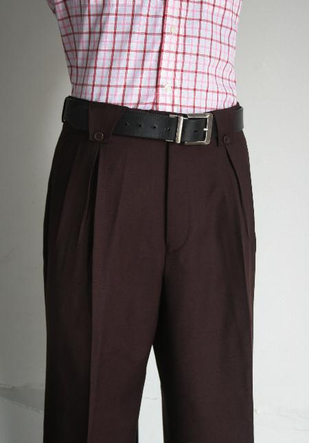 02cf733548f6 Leonardo Velenti Brand Mens Wide Leg Pants Wine unhemmed unfinished bottom