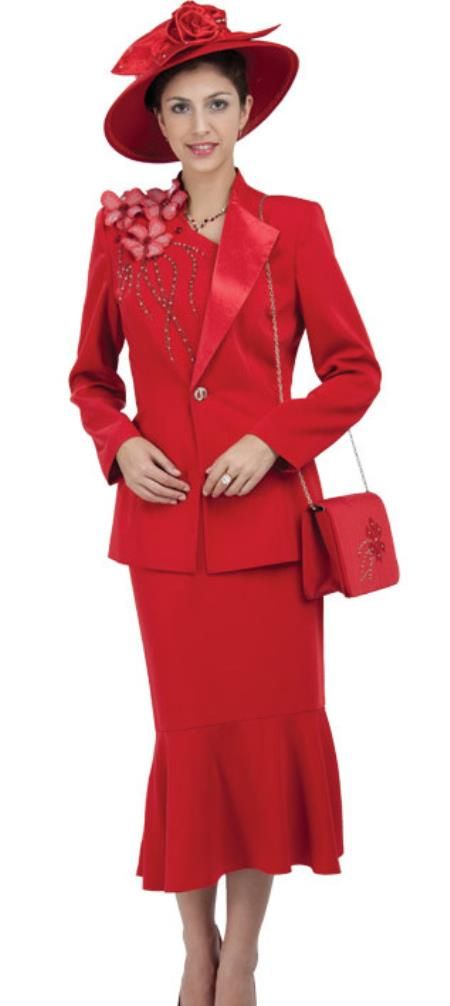 Buy WO-197 Women Dress Set Red