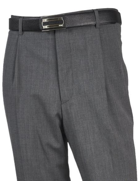 Mens Wool Flat Front Taupe Pant unhemmed unfinished bottom