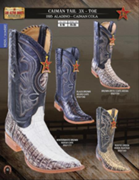 Buy F5F2 Los Altos 3X Toe Genuine caiman ~ World Best Alligator ~ Gator Skin Tail Mens Western Cowboy Boots Diff.Colors/Size