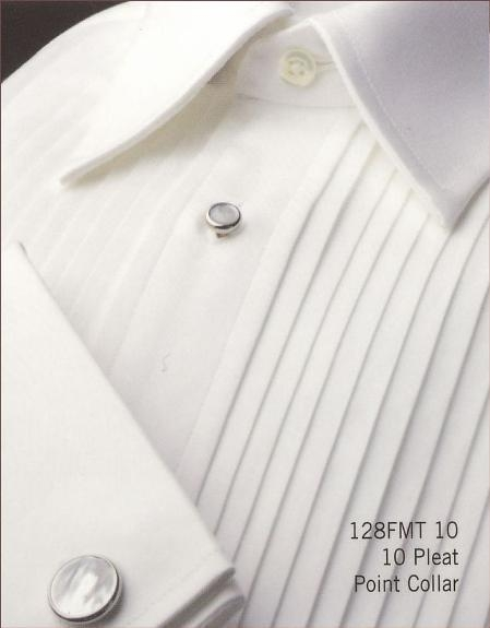 Gitman Year-Round > 10 Pleat Point Collar 100% Cotton 10 Pleat Point Collar 4 Buttons on a Removable $95