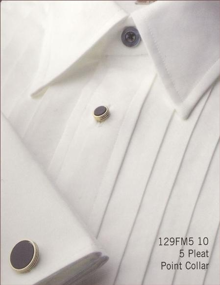 Gitman Year-Round > 5 Pleat Point Collar 4 Buttons on a Removable Strip French Cuffs 100% Cotton $95