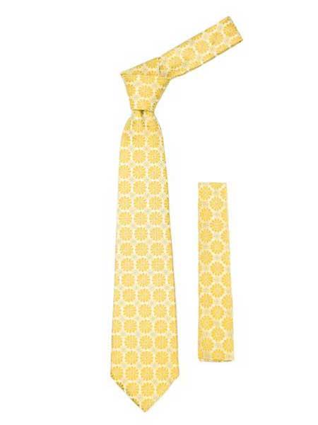 Design Fashionable Yellow Necktie