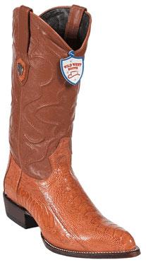 Wild West Buttercup Ostrich Leg Cowboy Boots - Botas De Avestruz
