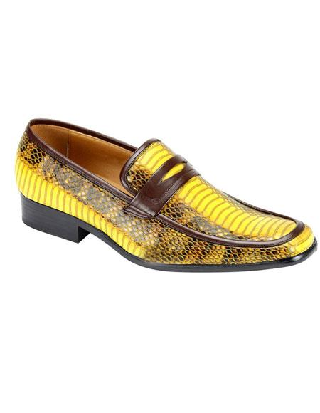 Mens Stylish Slip-On Casual Shoes Yellow