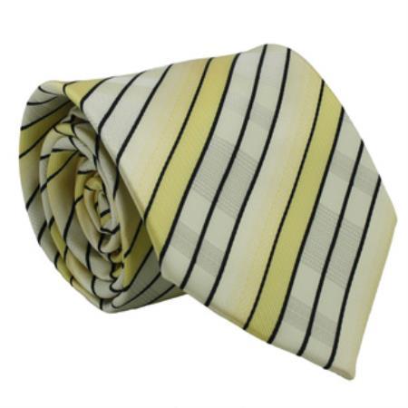Striped Neck Tie and