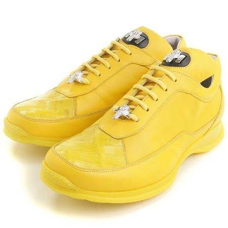 SKU#NZ8066 Yellow Crocodile & Calfskin $229