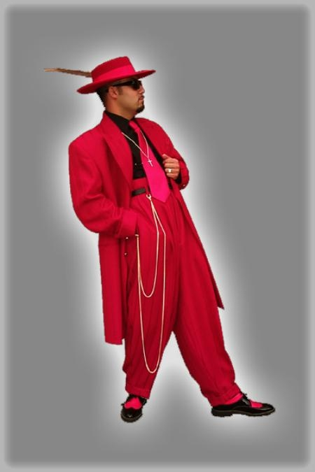 SKU# ZOOT SUIT SEVEN BUTTON LONG JACKET With Ticket 3 Pocket With Cuff in The Sleeve $98
