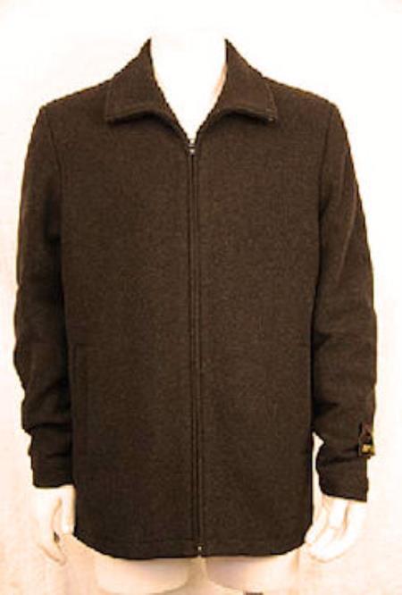 Zipper Collar Jacket Charcoal
