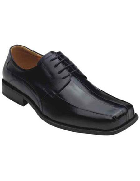 Zota Men's Unique Dress Unique Zota Men's Dress Shoe Brand Men's Stylish Oxford Leather Bicycle Toe Design Black Authentic