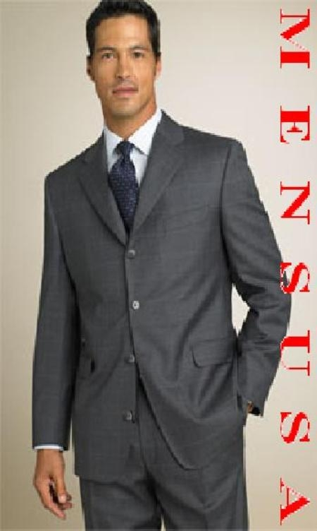 SKU# NNM221 absolutely stunning HW0074 UMO Charcoal Gray Window Pane 4 Buttons Notch Design $169