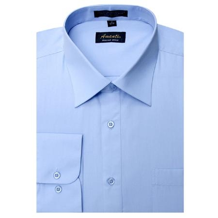 SKU#BB5698 Amanti Mens Wrinkle-free Baby Blue Dress Shirt $25