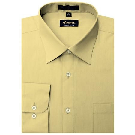 SKU#CE8801 Amanti Mens Wrinkle-free Dress Shirt Cheese $25