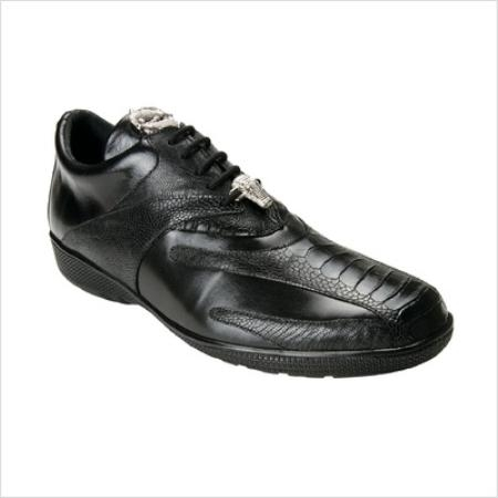 SKU#RQ5055 Belvedere Mens Bene Sneaker in Black $180