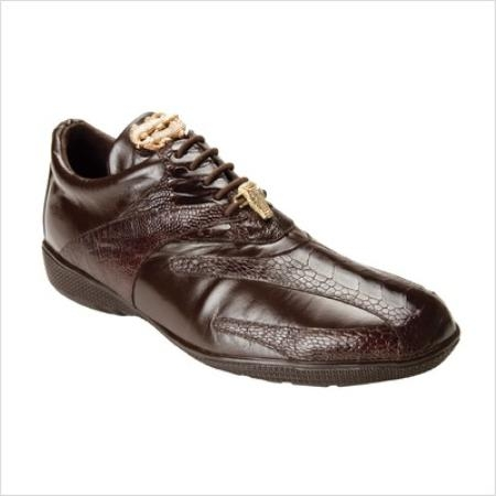 SKU#BW2018 Belvedere Mens Bene Sneaker in Brown