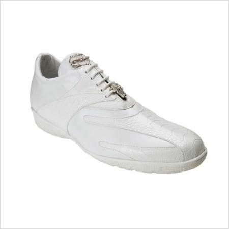 SKU#WZ8997 Belvedere Mens Bene Sneaker in White $180