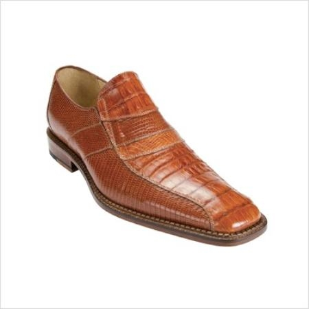 SKU#HP0281 Belvedere Mens Gavino Loafer in Brandy Slip-on style $288