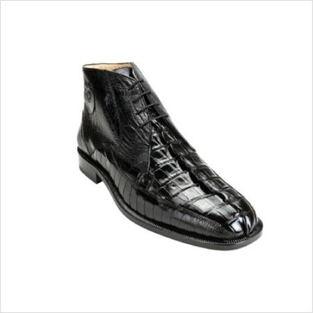 SKU#AB3900 Belvedere Mens Rico Boots in Black $461